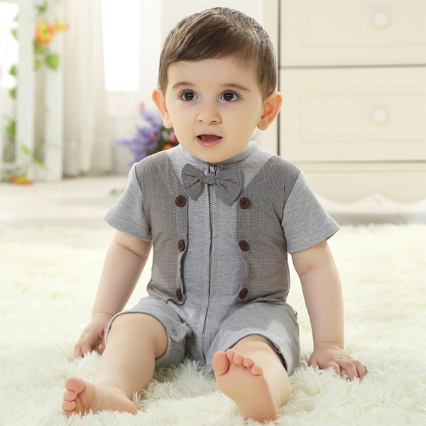 bc2ce452daed British gentleman 0-3-6 months baby boys summer 0 and 3 year old baby  clothes one-year-old babies and infants clothing small children's clothing  #SCLLM WISH ...