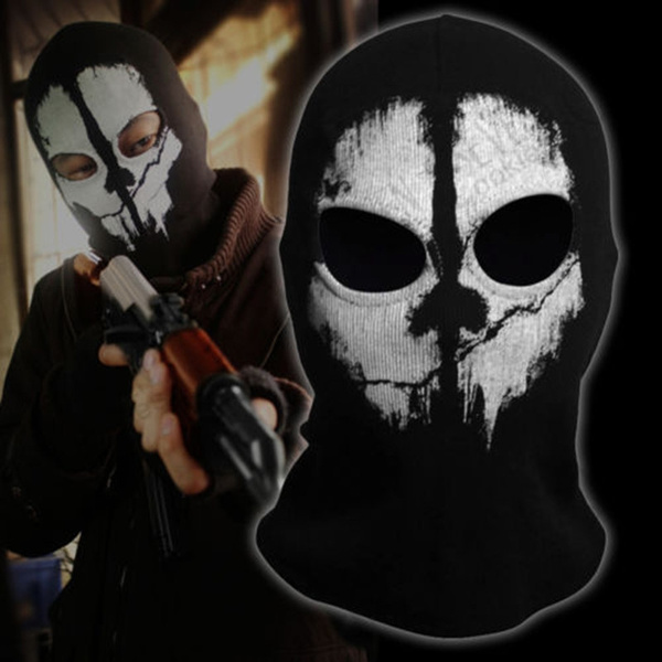 Black Cosplay Sports Outdoors Costume Outdoor Skull Masks