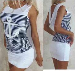 Fashion, Stripes, Sleeve, Dress