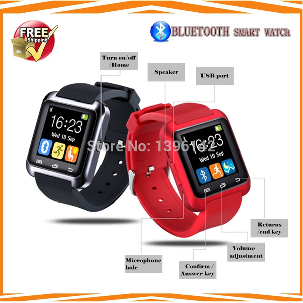 IOS/Android Bluetooth Smart Watch Intelligent WristWatch Smartwatch Relogio  Reloj with Touch Screen BT Remote Camera