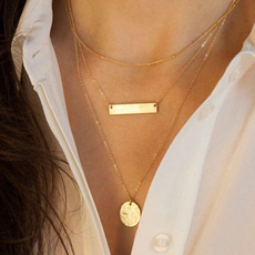 Hot Women Pendant Gold Chain Choker Chunky Statement Bib Necklace Jewelry Charm