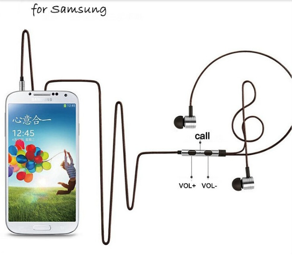 Mega Bass Updated Version 3.5mm Earphone Headphone Ears Headset for XiaoMI Samsung IPhone HTC Sony Etc