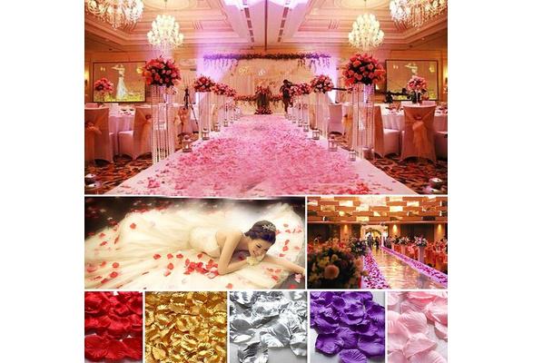 144 pcs Non-woven Rose Flower Petals Wedding Party Table Confetti Decorations