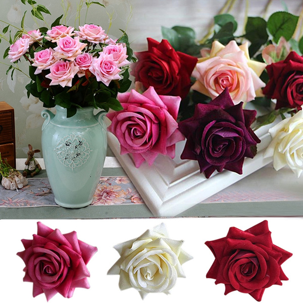 Picture of Fashion Rose Spring Artificial Fake Peony Flower Bouquet Wedding Decor