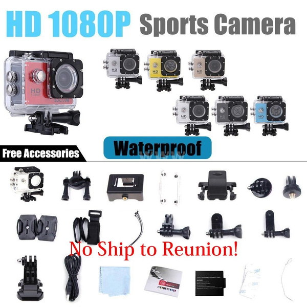 Picture of Sjcam Sj4000 Full Hd 1080p Waterproof Action Sport Camera Dvr 1.5 170 Wide Angle Lens With Battery Usb Cable+1 Bicycle Stand+1 Clip+2 Adhesive Tape+2 Helmet Base+1 J-shaped Mount Base+3 Switch Support+1 Fixed Base+1 Adapter+1 Camera Bracket+4 Bandage+4 Ribbon+1 Cleaning Cloth +1 Wire Rope