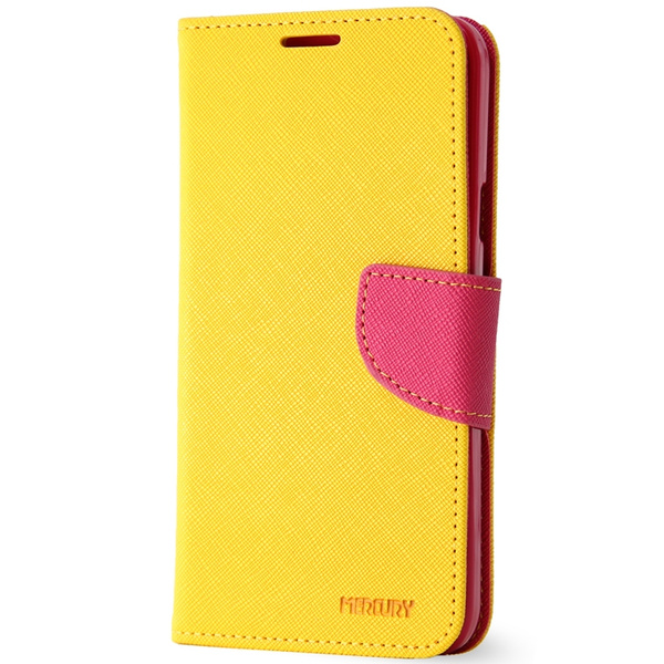on sale 2dfa7 7df5d BELK High Quality Phone Case Premium Leather Cover for Samsung Galaxy S6  5.1 inch Protective Shell Stylish Color Cases-Yellow