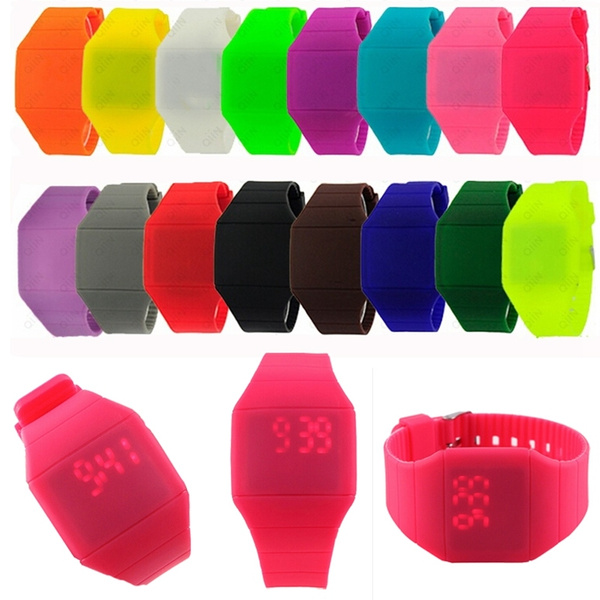 Picture of Cute Fruit Color Women Digital Led Touch Sport Wrist Watch