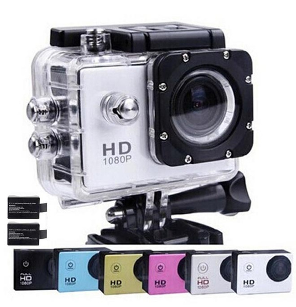 Picture of Action Diving 30m Waterproof 1080p Full Hd Helmet Camera Underwater Sport Cameras Sport Dv 2x Battery