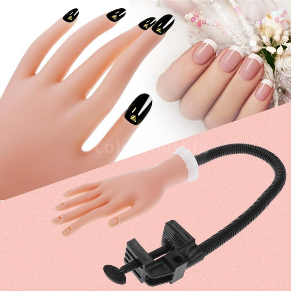 Wish Adjustable Flex Soft Nail Art Model Hand For Painting