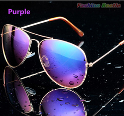 Metal Aviator Sunglasses, Bat, Fashion, uv