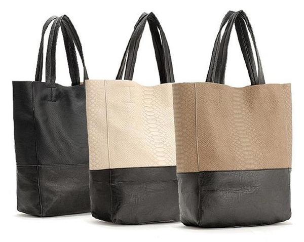 Picture of Vintage Crocodile Pattern Faux Leather Simple Women Tote Shoulder Bag