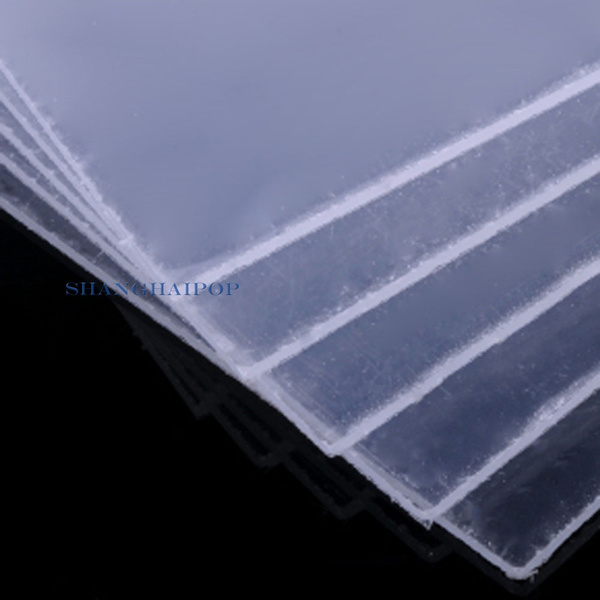 2 X Clear Square Plastic Acrylic Sheet Board Doll House 200X200mm 1-3mm