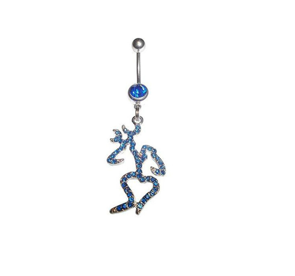 Wish Bling Crystal Browning Belly Button Sexy Ring 316l Surgical