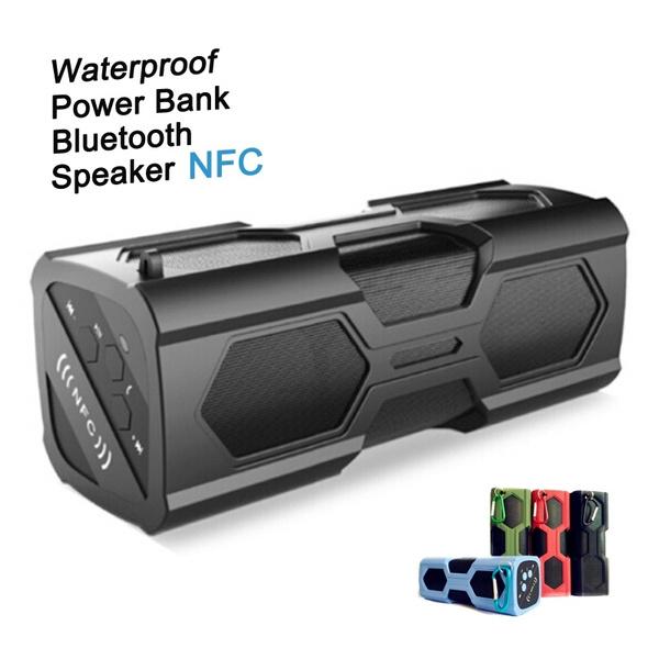 Picture of Nfc Bluetooth V4.0 Speaker Waterproof Ipx4 Shockproof Stereo Wireless Boombox Speaker Built-in 3600mah Powerbank