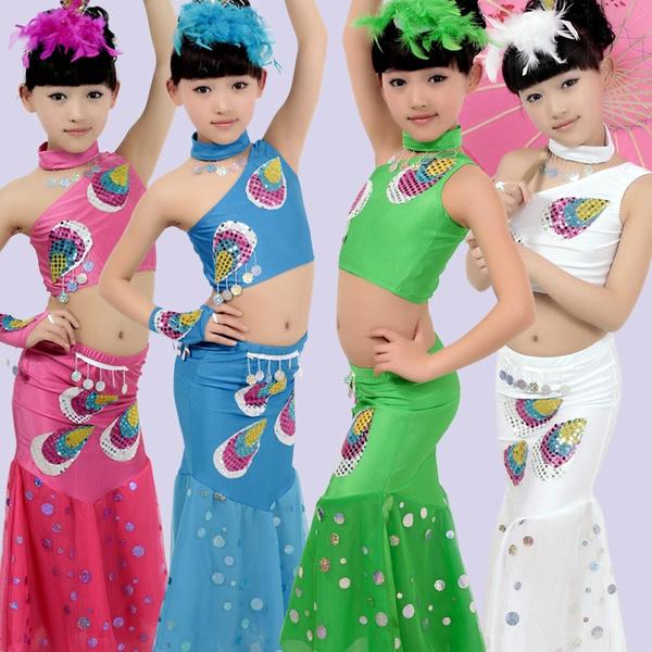 7b84e0ff79c4 Child Peacock Dance Clothes Pavaner Dance Costume Apparel ...
