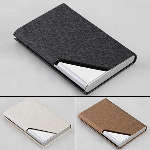 Picture of Pu Stainless Velvet Purse Business Name Id Credit Card Holder Case Box