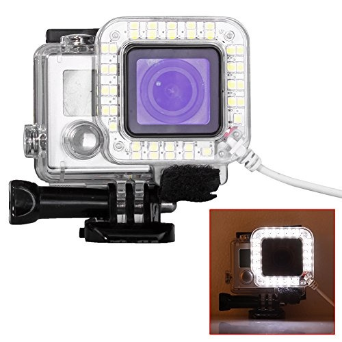 Digital Camera Products USB Lens Ring LED Flash Light Shooting Night for GoPro HERO4 Camera /& Photo 3