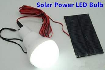 Portable Solar Power LED Bulb Lamp Outdoor Lighting Camp Tent Fishing Light