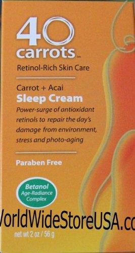 wish 40 carrots retinol rich skin care carrot acai sleep cream 2oz