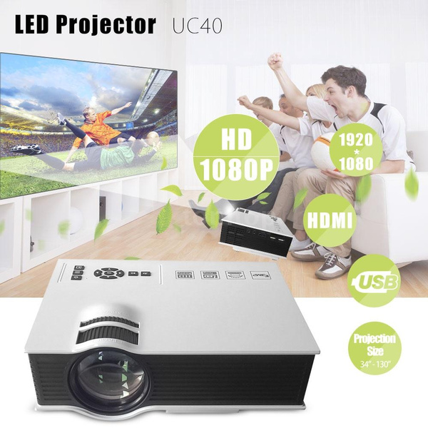 Picture of Uc40 Portable 800 Lumens 1080p Full Hd Led Projector Contrast Ratio 800 1 With Remote Controller Home Theater