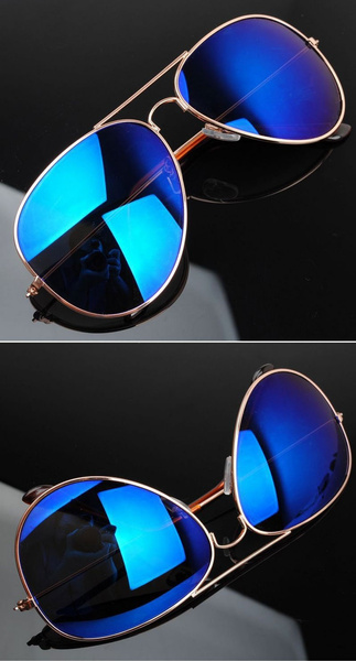 Famous Aviator Sunglasses  wish blue mirror aviator sunglasses gold frame hot famous cool