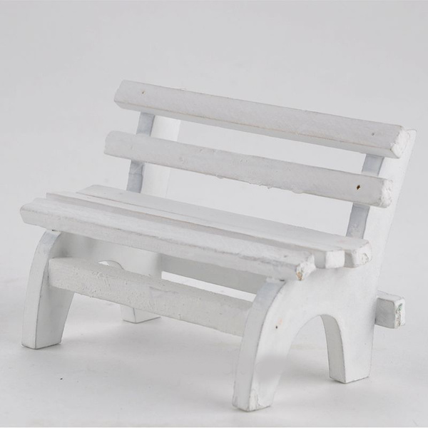 Cool White Mini Park Bench Small Wooden Furniture Articles Bralicious Painted Fabric Chair Ideas Braliciousco