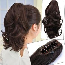 ponytailextension, hair, curlyponytail, fakehairponytail