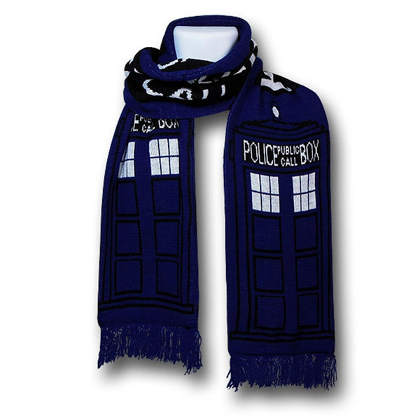 Wish Doctor Who Blue Tardis Scarf Knit Warm Scarf Best For Doctor