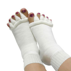 Yoga GYM Massage Open Five Toe Separator Socks Foot Alignment Pain Relief New