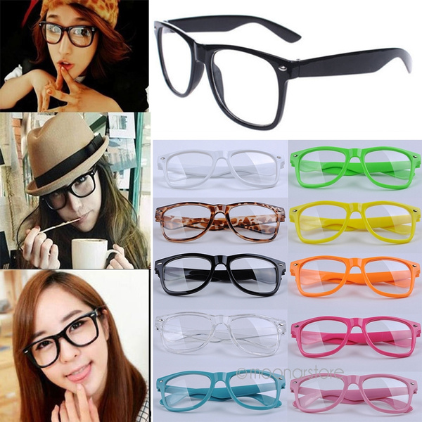 Picture of Fashion Designer Vintage Girl Glasses Cute Clear Lens Nerd Geek Wayfarer Eyewear