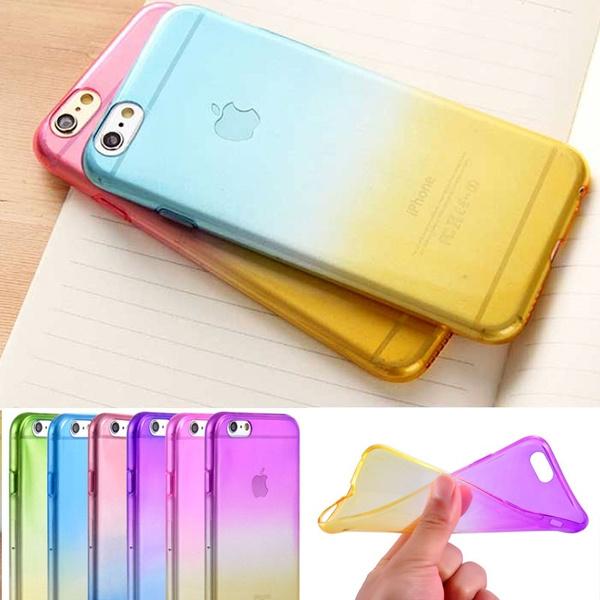 Picture of Gradually Ombre Soft Silicone Case For Iphone 5/5s/5c/se/6/6 Plus/6s /6s Plus/7/7 Plussamsung Galaxy S6/s6 Edge/s6 Edge Plus/s7/s7 Edge