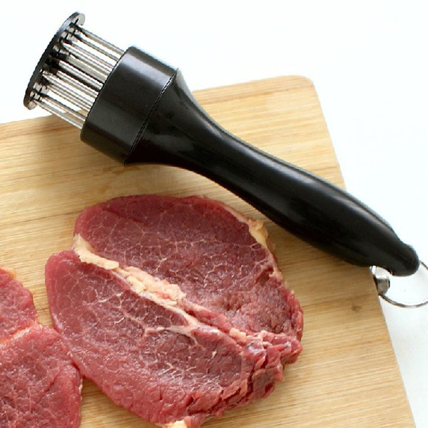 Profession Meat Meat Tenderizer Needle With Stainless Steel Kitchen Tools Black White