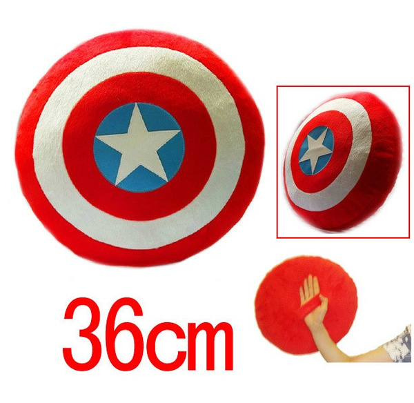 The Avengers plush Captain America Shield Plush Toy 36cm Throw Pillow new