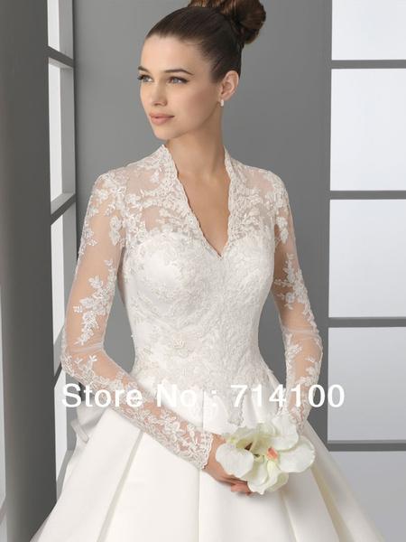 Wish   Tidetells Exquisite High Quality Long Sleeve Bridal Wedding ...