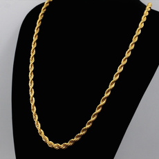 golden, Chain Necklace, menchain, gold