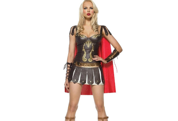 Ladies Greek Xena Roman Warrior Princess Gladiator Medieval Spartan Hero Costume