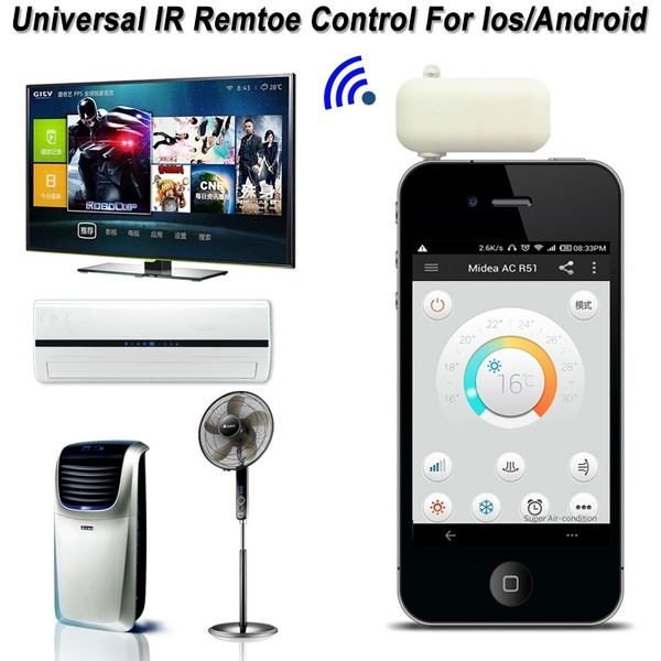 3 5mm Headphone Jack ir Wireless Universal Remote Control Learning for TV  Air conditioner STB Projector Ios/Android Smart Phone@KDK
