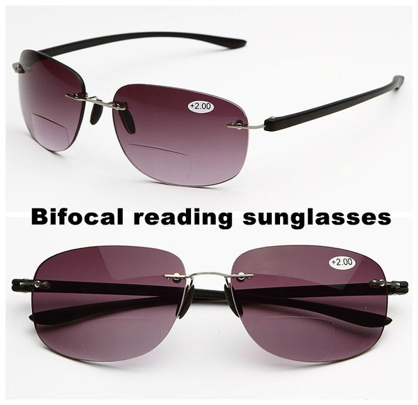 55c254329169 high-end portable Bifocal Progressive Reading Sunglasses men women ...