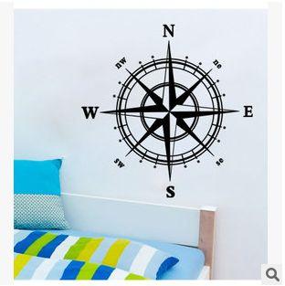 Nautical Comp Wall Decal Sticker Creative Room Decor