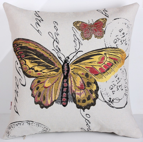 Fundas Cojines Ikea.Cushion Cover Throw Pillows Sofa Cushions New Fluid Funda Cojin Ikea Linen Elegant Cojines Decorative Almofadas Butterfly Design