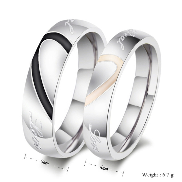 Picture of Women Fashion Diamente Wedding Rings Bridal Jewelry Couple Rings R0593