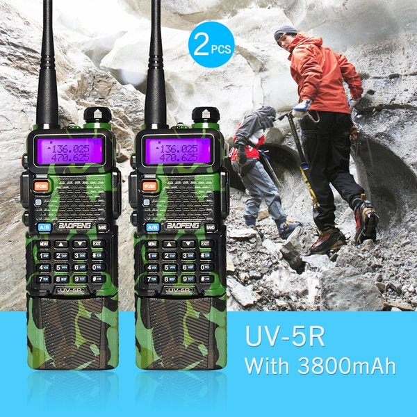 Picture of 2pcs Baofeng Uv-5r With 3800mah Battery Dual Band Transceiver 128 Channels Uhf/vhf Radio + Free Earpiecebuilt-in Vox Function136-174/400-480mhz