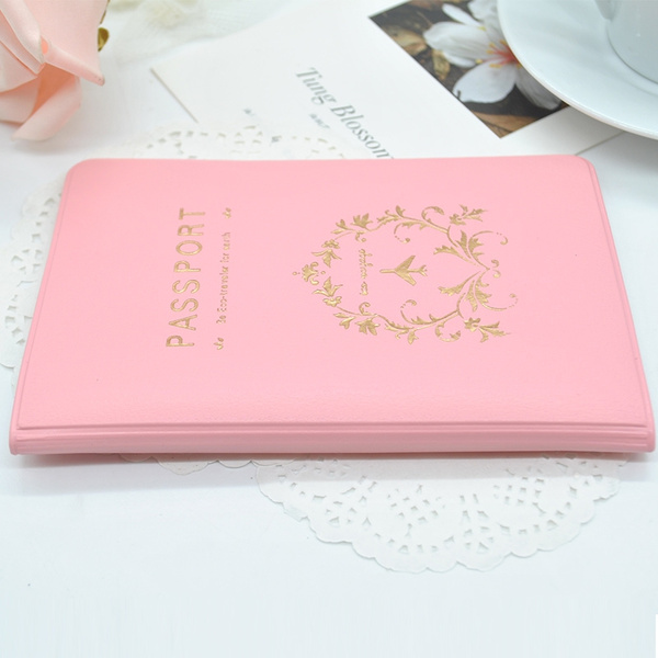 Picture of New Simple Travel Iddocument Holder Utility Pu Leather Passport Cover Protector