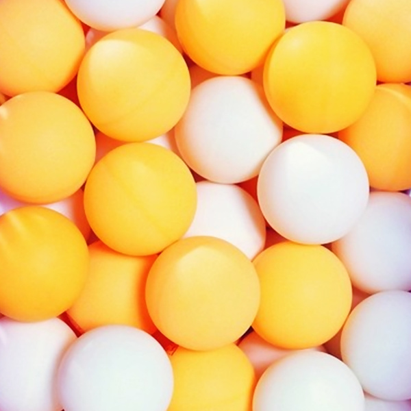 50pcs Pack Unbranded 3 Star 40mm Standard Table Tennis Balls Pingpong Ball Orange White Color