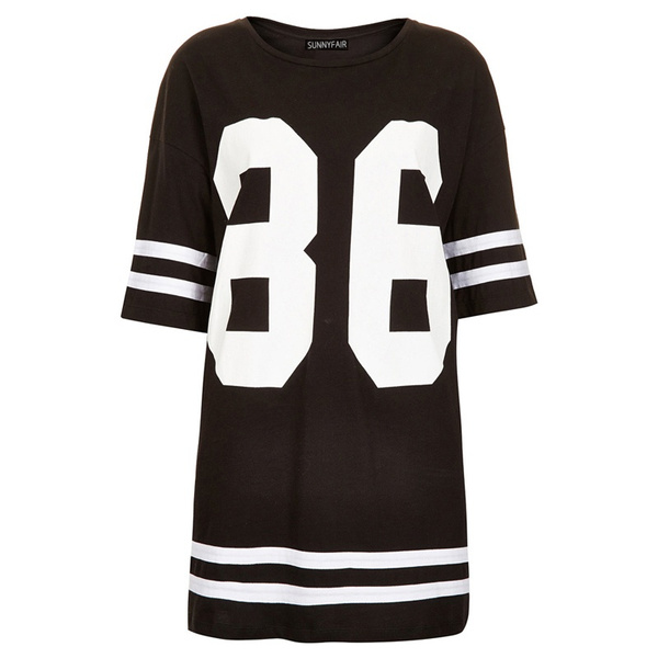 5df693b2 Fancyinn Women Fashion 86 American Baseball Tee T-shirt Top Loose ...