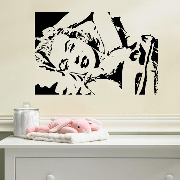 Wish | Elvis Presley Marilyn Monroe Wall Sticker Removable Wall ...