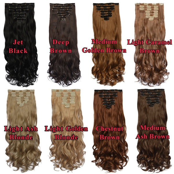 Wish 18 Clips In 8 Pieces Set Thick Curly Wave Clip In On Hair