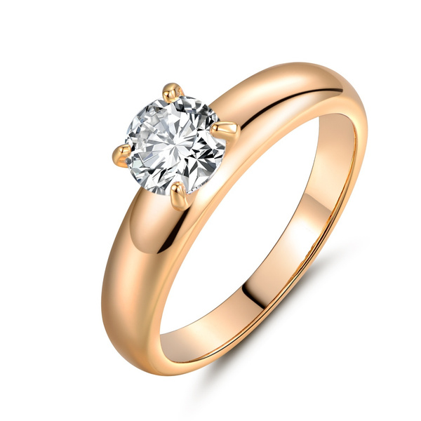 Picture of 18k Gold Filled Wedding Shining White Sapphire Rhinestone Ring