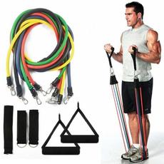 11 Pcs/Set Resistance Tubes Gym Fitness Exercise Workout Handles Yoga Bands