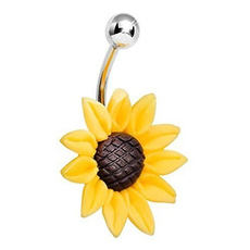 bellybuttonring, Fashion, Gifts, Sunflowers